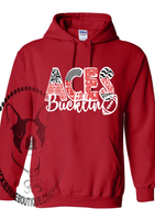Bucklin Aces Patterned Football Custom Shirt for Kids, Heavy Hoodie