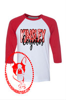Kinsley Coyotes Patterned Custom Shirt. 3/4 Sleeve