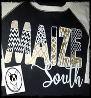 Maize South Patterned Custom Shirt for Kids, 3/4 Sleeve