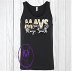 Maize South Mavs Patterned Custom Shirt, Loose Fit Tank