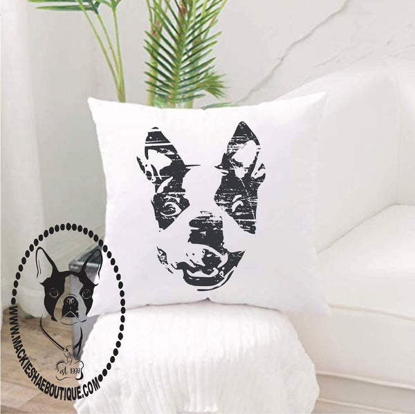 Boston Terrior Custom Pillow Cover