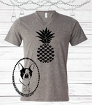 Pineapple Heart Custom Shirt, Short Sleeve