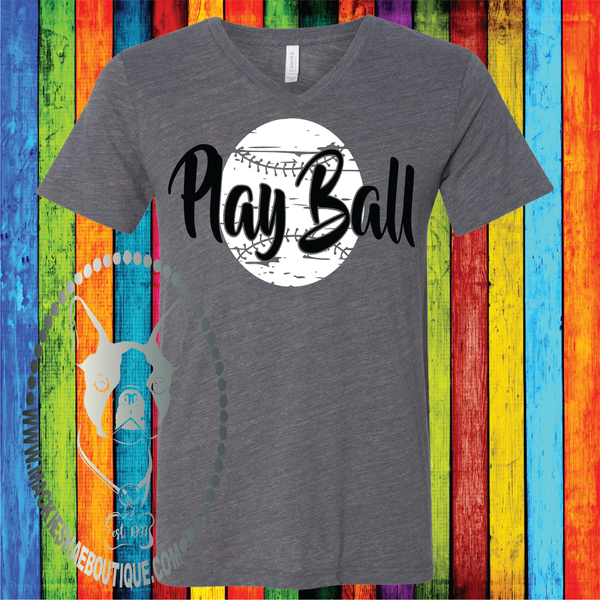 Play Ball Softball/Baseball (Get Any Sport) Custom Shirt, Soft Short Sleeve