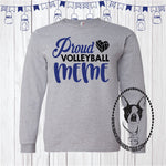 Proud Volleyball MEME with Heart (Personalize any Name) Custom Shirt, Long Sleeve
