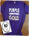 Purple & Gold Football Custom Shirt (Get Any Colors for your Team), Short Sleeve