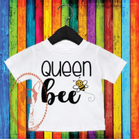 Queen Bee Custom Shirt for Kids, Short Sleeve