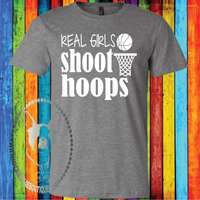 Real Girls Shoot Hoops Custom Shirt for Kids, Soft Short Sleeve