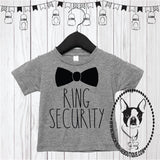 Ring Security Bow Tie Custom Shirt for Kids, Short Sleeve