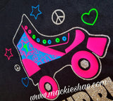 Roller Skate Personalized Birthday Custom Shirt for Kids, Short Sleeve