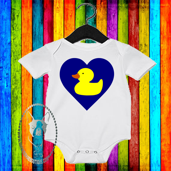 Rubber Duck Heart Custom Shirt for Kids, One Piece
