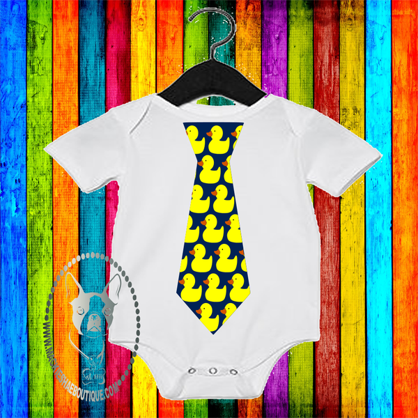 Rubber Duck Tie Custom Shirt for Kids, One Piece