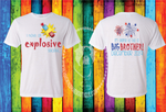 I Have An Explosive Secret (Big Brother or Big Sister) Custom Shirt for Kids, Short Sleeve