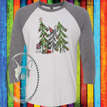 Gnome Christmas Tree Custom Shirt, Soft 3/4 Sleeve