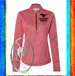Sacred Heart Mustangs Custom Shirt, Adidas Women's Brushed Terry Heathered Quarter-Zip Pullover