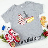 Tis the Season Little Debbie Custom Shirt for Kids, Soft Short Sleeve