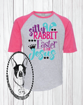 Silly Rabbit Easter is for Jesus Custom Shirt for Kids, 3/4 Sleeve