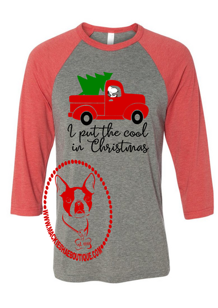 Christmas Snoopy Old Truck Custom Shirt, 3/4 Sleeve