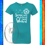 Some See Weeds Some See Wishes Custom Shirt for Kids, Girls' Princess Crew Soft Tee