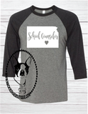 School Counselor Custom Shirt (Pick any state, town, and grade), 3/4 Sleeve