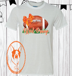 Bleed Orange Football Custom Shirt, Short Sleeve