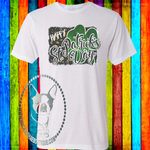 Happy St. Patrick's Day with Leopard Custom Shirt, Soft Short Sleeve