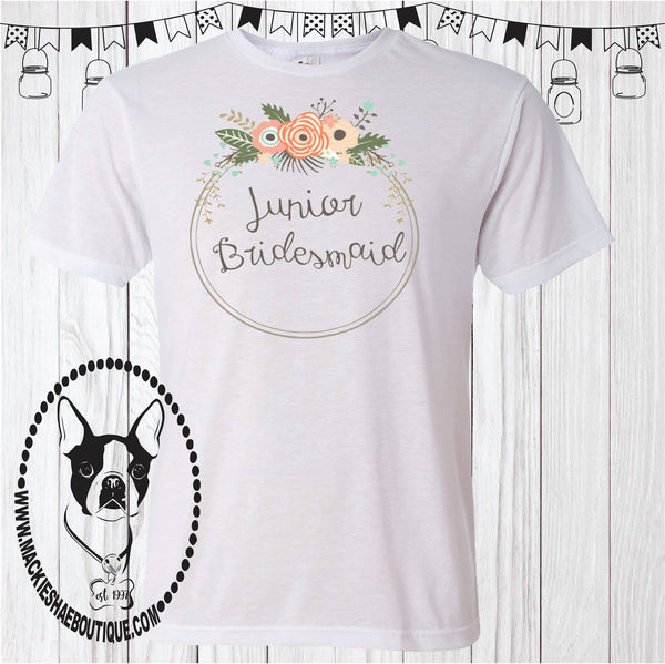Junior Bridesmaid Custom Shirt for kids, Short Sleeve