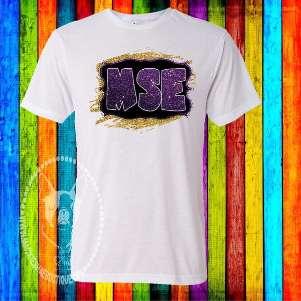 MSE Purple and Gold Custom Shirt, Short Sleeve