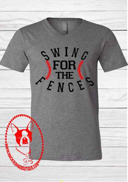 Swing for the Fences Custom Shirt, Short Sleeve