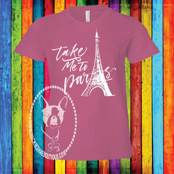 Take Me to Paris Custom Shirt for Kids, Short Sleeve