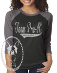 Team Pre-K (get any grade) Custom Shirt, 3/4 Sleeve