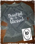Thankful & Blessed Custom Shirt, Zen Sweatshirt