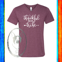 Thankful for My Tribe Custom Shirt, Soft Short Sleeve