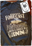 Today's Forecast... Pontooning with A Chance of Drinking Custom Shirt, Soft Tank