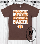 Turns Out My Brownies Just Needed A Baker Custom Shirt for Kids, Short Sleeve