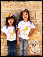 Unicorn Birthday Custom Shirt for Kids, Short Sleeve