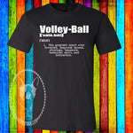 Volleyball Definition Custom Shirt, Short Sleeve