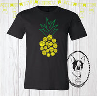 Volleyball Pineapple Custom Shirt, Short Sleeve