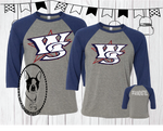 Wichita Sluggers (Can be Personalized) Custom Shirt for Kids, 3/4 Sleeve