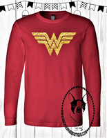 Wonder Woman Custom Shirt, Long Sleeve