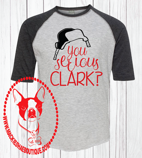 You Serious Clark?  Custom Shirt for Kids, Soft 3/4 Sleeve Tee