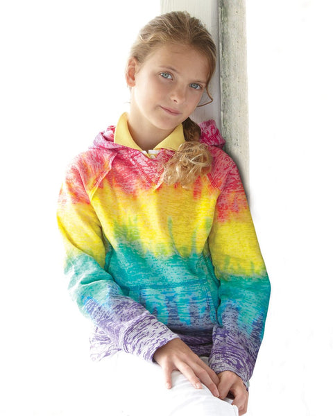 Girl's Rainbow Striped Hoodie