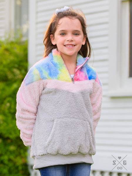 Girls' Colorful Pullover