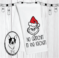 No Grinchin in the Kitchen Custom Kitchen Towel