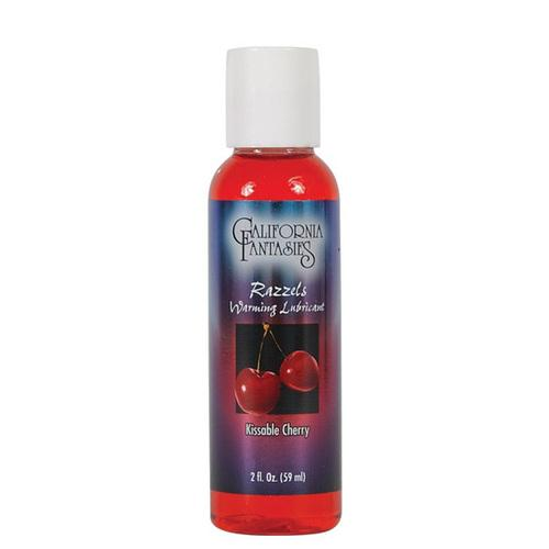 Razzels Warming Lubricant - 2 oz Kissable Cherry