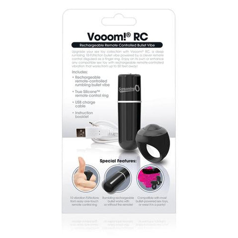 Charged Vooom Remote Control Bullet - Black
