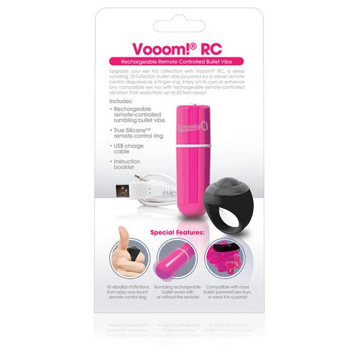 Charged Vooom Remote Control Bullet - Pink