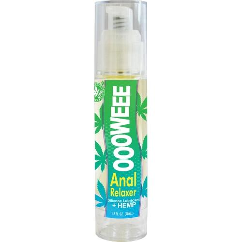 Oooweee Anal Relaxer Silicone Lubricant & Hemp -  1.7 Fl. Oz. / 50 ml