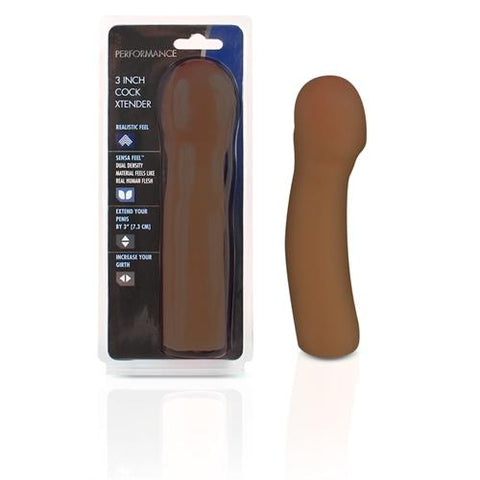 Performance 3 Inch Cock Extender - Brown