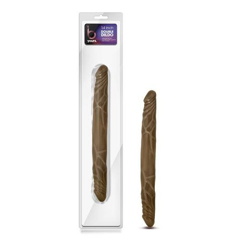 "B Yours 14"" Double Dildo - Latin"