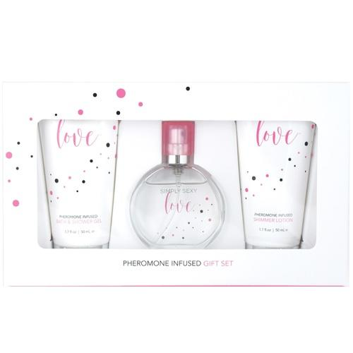 Simply Sexy Love Pheromone Infused Perfume Gift Set - 4 Pcs.